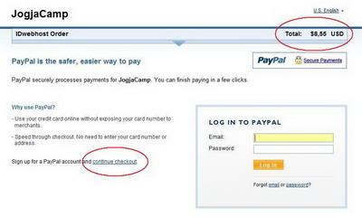 Web Hosting CC Payment