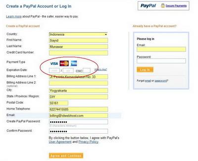 Web Hosting CC Payment 2