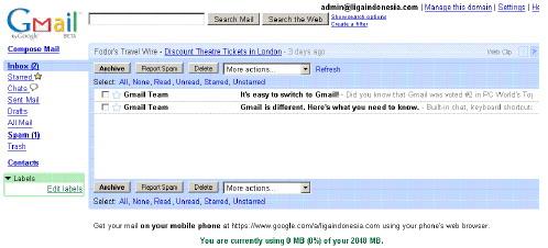 login email baru