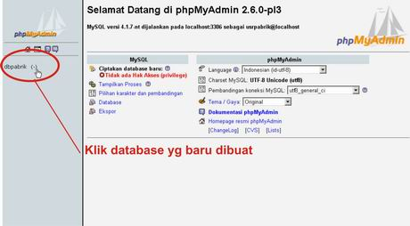 pilih database didbpabrik