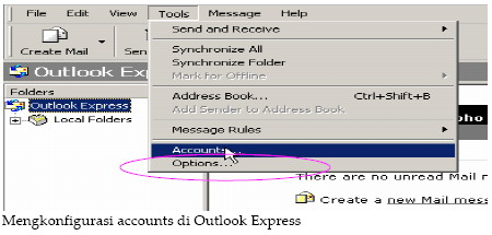 Konfigurasi Email POP3 dengan Outlook Express