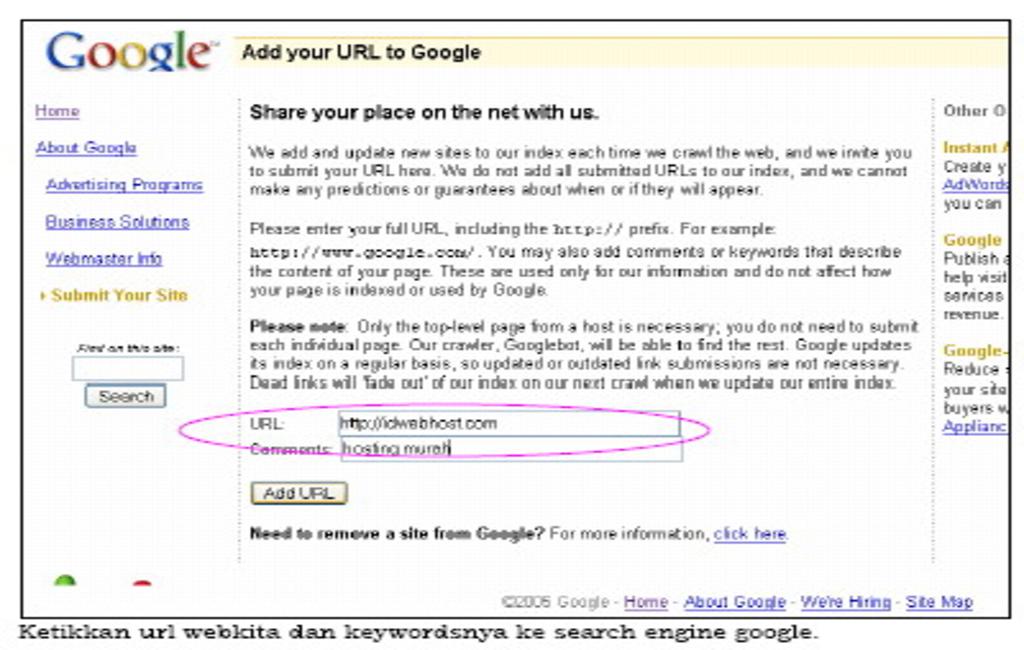 Tips Agar Website Masuk ke Database Search Engine Google