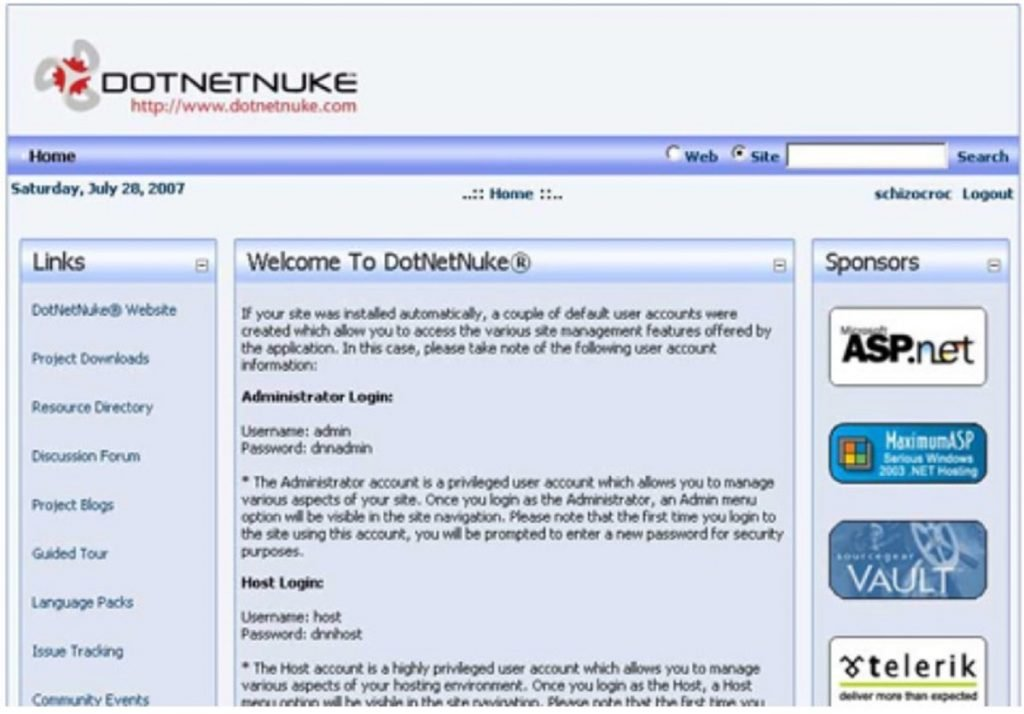 Install DNN (DotNetNuke) lewat ASP.NET web applications