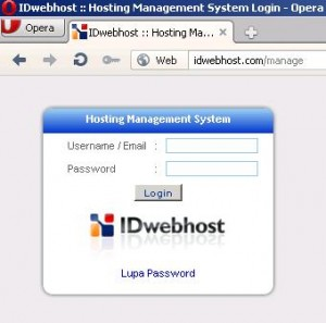 Cara Update Password Manage IDwebhost