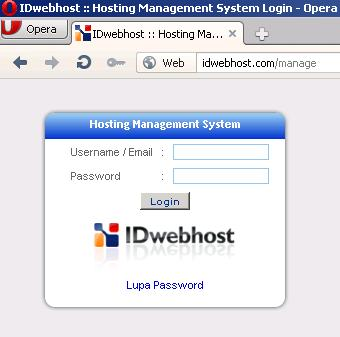 Cara Update Password Manage IDwebhost