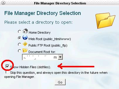 directory selection