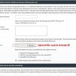 Upload persyaratan domain