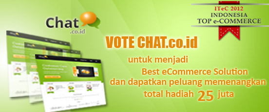 CHAT.co.id Masuk Nominasi Indonesia Top e-Commerce 2012
