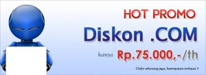Promo Domain Murah .COM 75000
