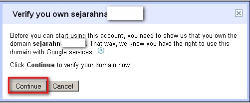 verify akun email