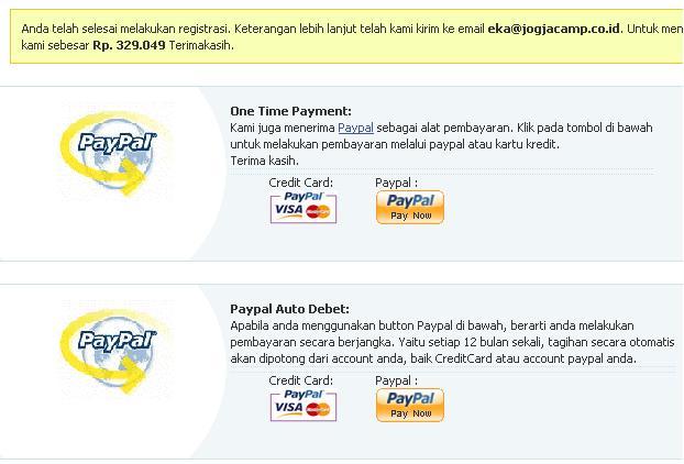 pembayaran via paypal