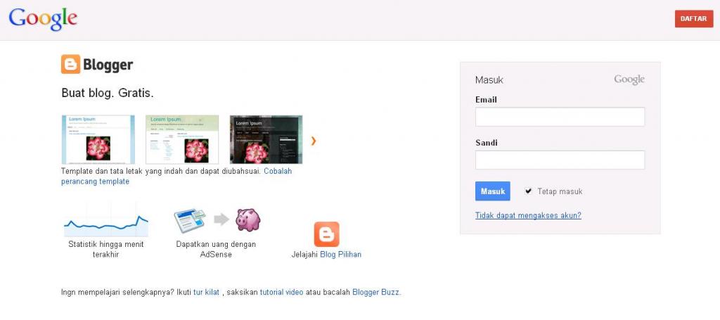 Setting Custome Domain Blogspot