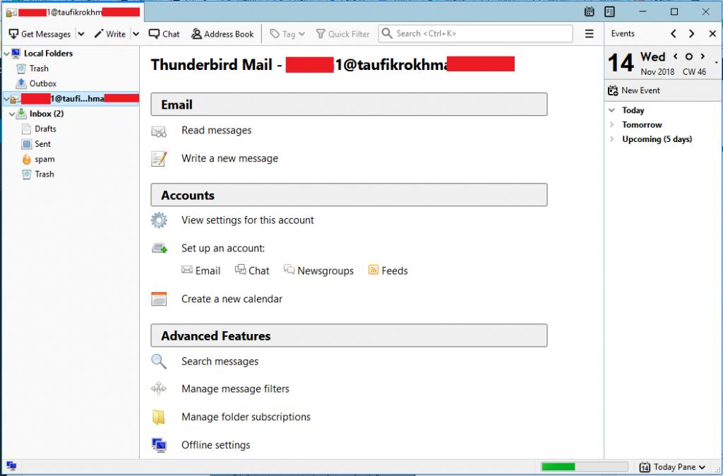Cara Setting Thunderbird Mail Client