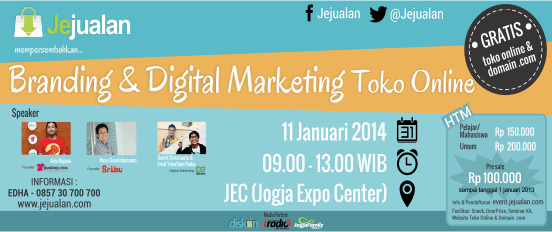 Seminar Branding & Digital Marketing Toko Online