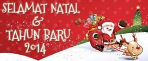 Selamat Natal dan Tahun Baru 2014