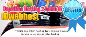Tambahan Hosting 2 Bulan dari IDwebhost