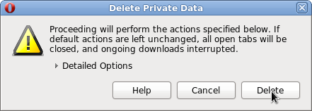 Delete Private opera