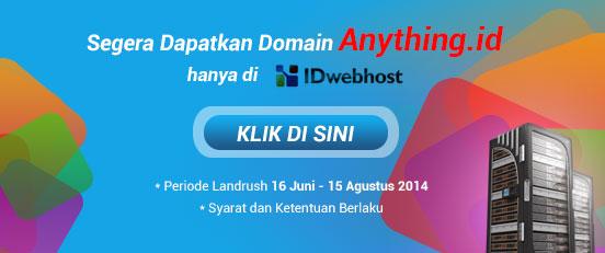 Domain ANYTHING.ID dibuka di IDwebhost