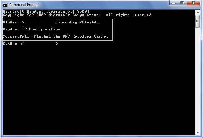 how to run ipconfig flushdns in windows 7