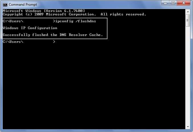 Flush DNS di Microsoft Windows