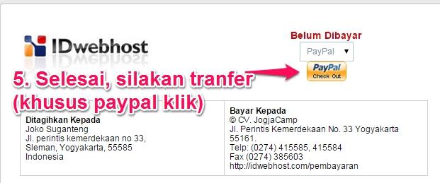 Pilih Paypal