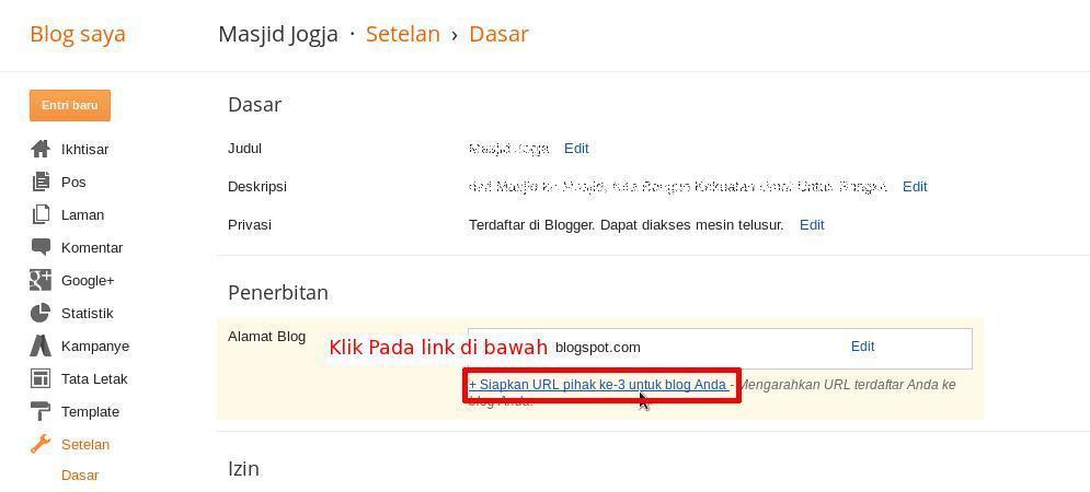 Cara Setting Domain Custom Ke Blogspot 2