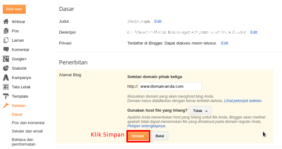 Cara Setting Domain Custom Ke Blogspot 3 - Cara Setting Domain Idwebhost Ke Blogger