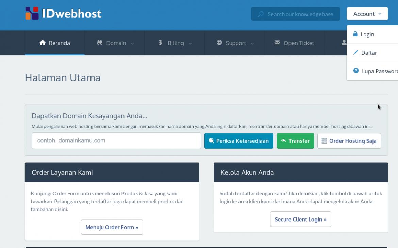 Cara redirect domain dengan masking / url frame 1