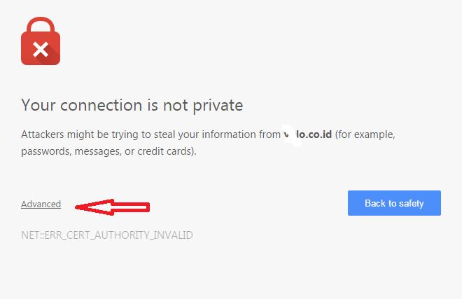 Tidak Bisa Akses Cpanel dari Chrome
