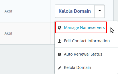 Setting Name Server Dari Member Area IDwebhost