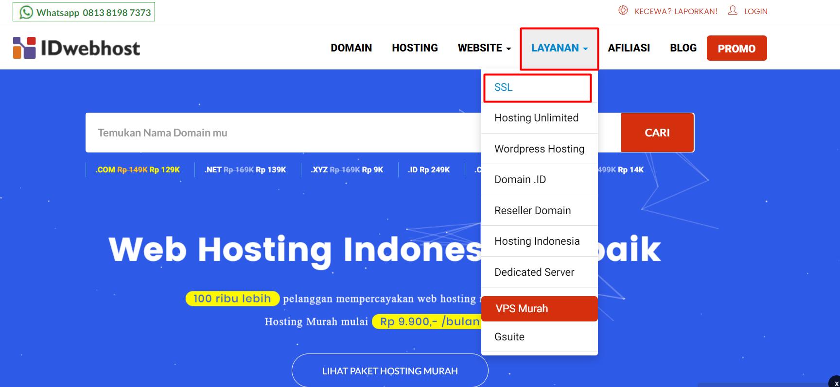 SSL IDwebhost