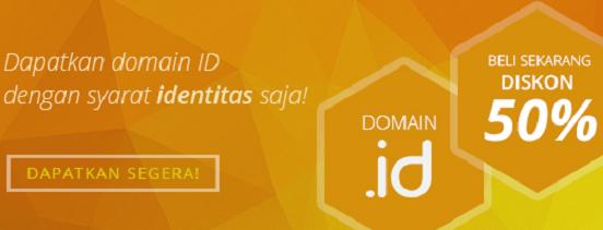 Diskon Domain ID 50 %