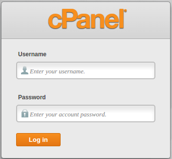 cpanel-login-page