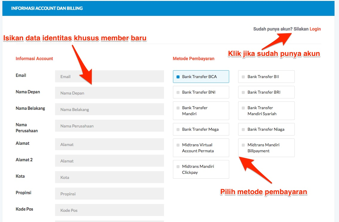 login akun idwebhost