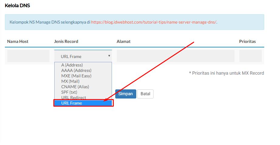 Cara redirect domain dengan masking / url frame 5