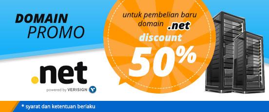Promo Domain .NET sebesar 50 %