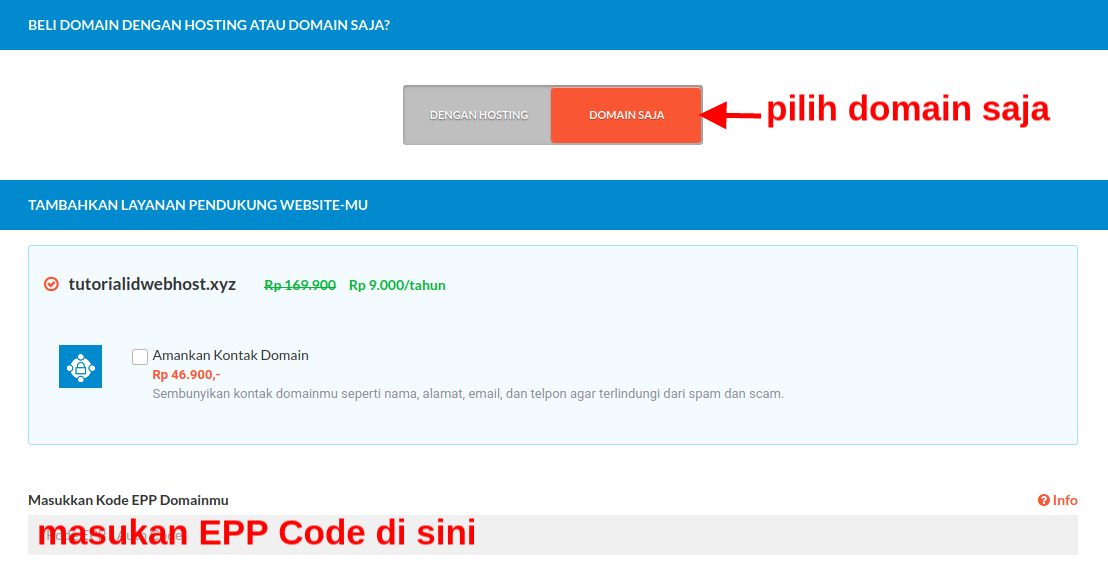 Cara Mudah Transfer Domain di IDwebhost