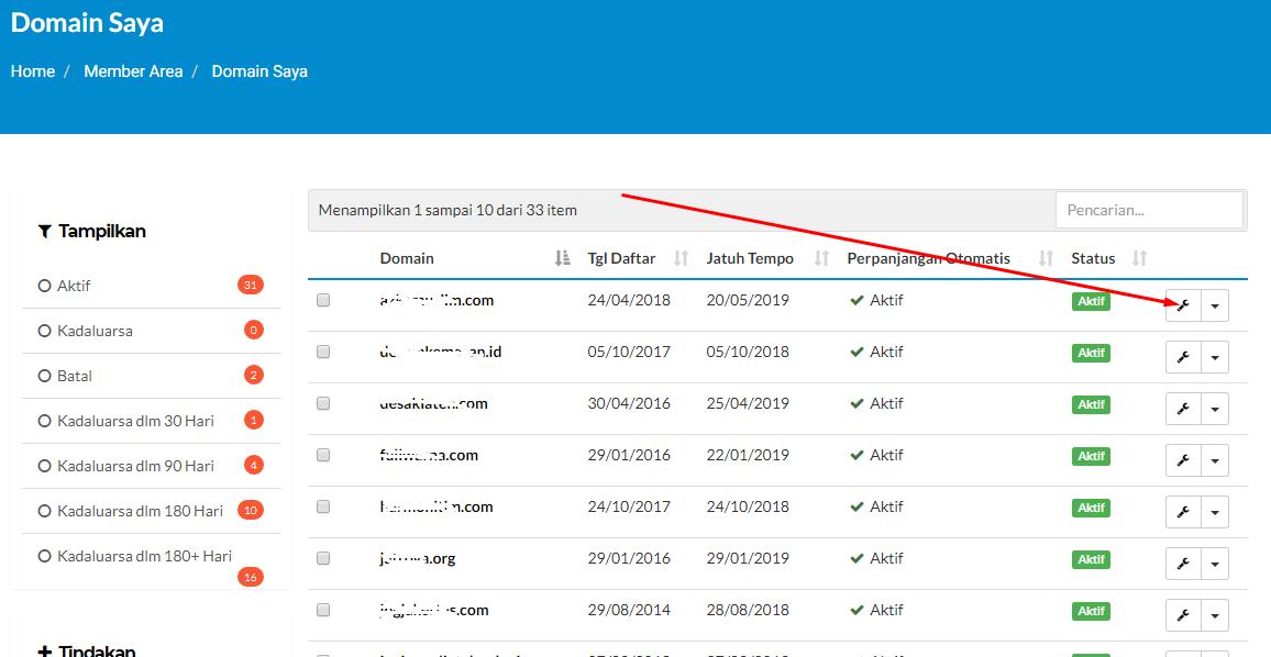 Cara redirect domain dengan masking / url frame 3