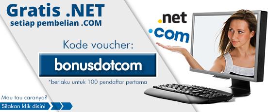 Beli Domain .COM gratis Domain .NET