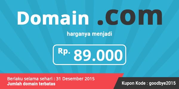 Promo Tutup Tahun 2015 untuk Domain .COM