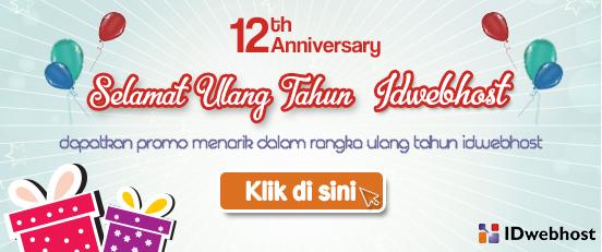 Promo di Ulang Tahun IDwebhost ke-12