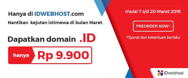 Promo Domain .ID Hanya 9 Ribuan