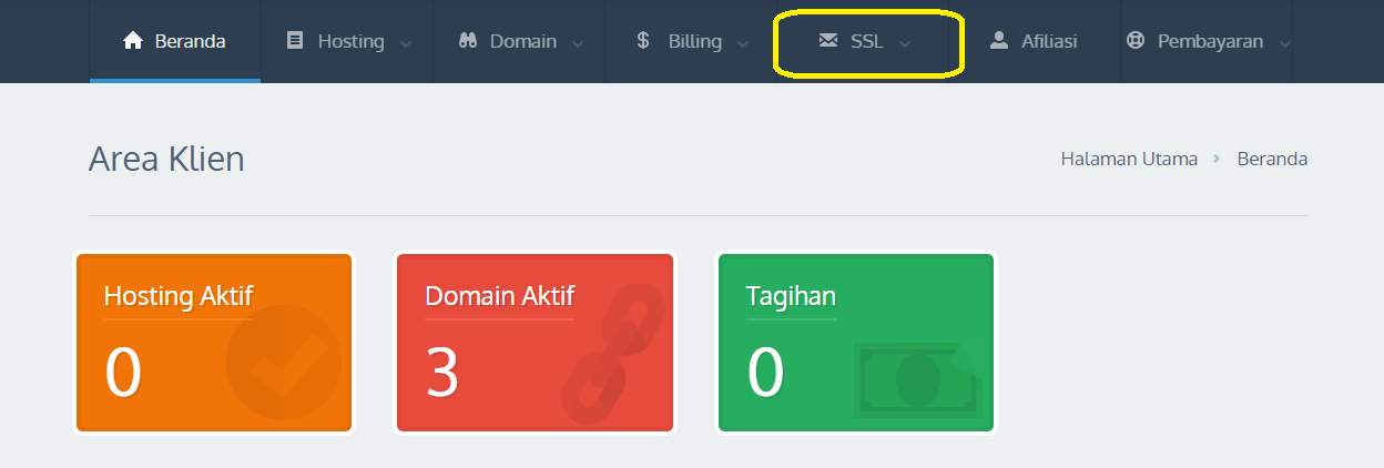 Order SSL dengan WWW dan tidak menggunakan WWW