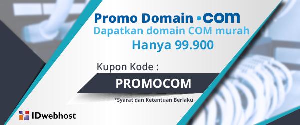 Promo Domain COM Hanya 99.900