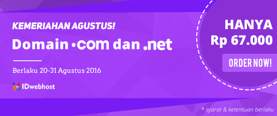 Promo Domain COM NET 67rb