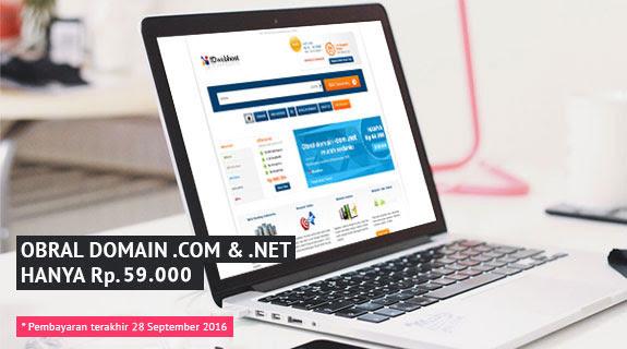 Banting Harga Domain .COM dan .NET hanya Rp 59.000