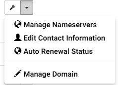 menu My Domains