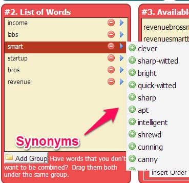 Add ke Daftar Keyword