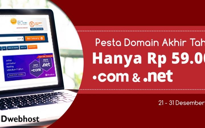 Pesta Domain Akhir Tahun .COM .NET 59.000