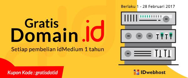 Promo Gratis Domain ID